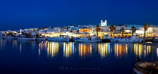 Lively nightlife in Paros