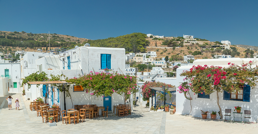 The traditional village Lefkes in Paros